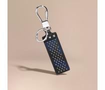 Schlüsselanhänger mit London Check-Muster und Ziernieten