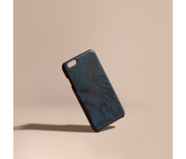iPhone6-Etui in London Check mit floralem Muster