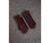 Handschuhe aus Krokodil- und Lammleder