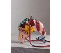 The Fish - Crossbody-Tasche aus Leder und Natternleder