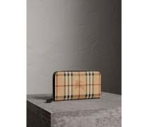 Brieftasche aus Haymarket Check-Gewebe mit umlaufendem Reißverschluss