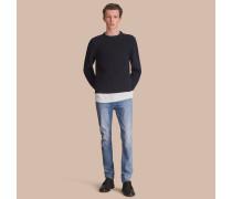 Skinny-Jeans aus gebürstetem Stretchdenim