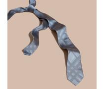 Schmal geschnittene Seidenkrawatte mit Check-Muster