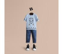 T-Shirt aus Baumwolle mit Lady-Druckmotiv