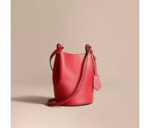 Crossbody-Tasche  Bucket aus Leder und Haymarket Check-Gewebe