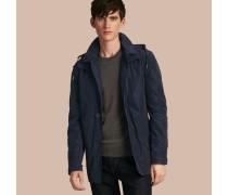 Wasserabweisender Mantel mit Kapuze und herausnehmbarem Futter