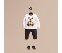 Langärmeliges T-shirt Aus Baumwolle Mit Teddybärmotiv