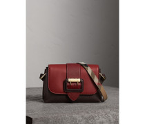 The Buckle Crossbody Bag aus Leder im Colour-Blocking-Design