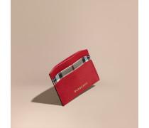 Kartenetui aus Leder mit Check-Futter