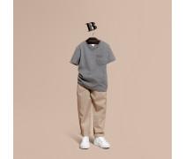 T-shirt Aus Baumwolle Mit Halsnahem Rundhalsausschnitt