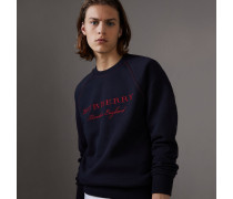 Jersey-Sweatshirt mit Stickerei