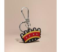 Kronenmotiv-Schlüsselanhänger aus Leder