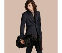 Körperbetonter Travel Tailoring-Anzug aus Schurwolle in Birdseye-Webung