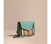 Kleine Crossbody-Tasche aus Leder mit House Check-Muster