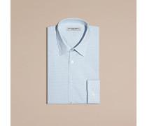 Schmal geschnittenes Hemd aus Baumwollpopelin mit Vichy-Muster