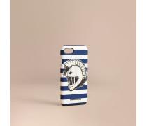 """iPhone7-Etui aus London-Leder mit """"Pallas Helmet""""-Motiv"""