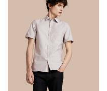 Kurzärmeliges Oxford-hemd Aus Baumwolle Mit Check-detail