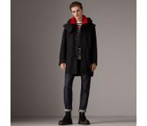 Mantel aus Taftgewebe mit abnehmbarer Kapuze und Weste