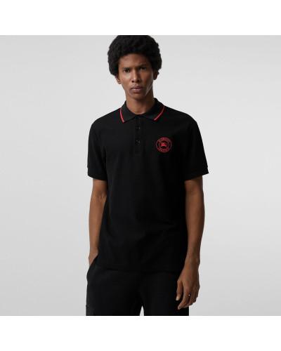Poloshirt aus Baumwollpiqué mit aufgesticktem Logo