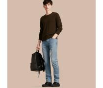 Gerade geschnittene Jeans aus komfortablem japanischem Stretchdenim