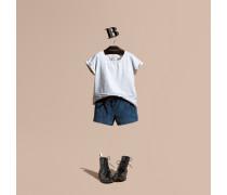Shorts Aus Cord Mit Gürtel