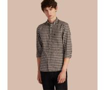 Hemd aus Baumwolltwill mit Vichy-Muster