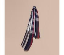 Leichter Schal aus Leinen mit Karomuster