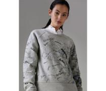 Sweatshirt aus einer Baumwolljersey-Mischung mit Doodle-Motiv