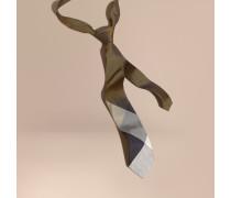 Modern geschnittene Seidenkrawatte in Jacquard-Webung mit Check-Muster