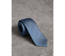 Schmal geschnittene Krawatte aus Seidentwill mit Karomuster