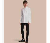 Baumwollhemd mit Biesendetail und Makramee-Besatz