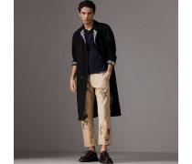 Poloshirt aus Baumwollpiqué mit Schottenmusterdetail