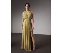 Kleid aus Seidengeorgette mit Rüschen