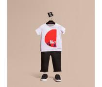 Baumwoll-t-shirt Mit Grafischem London-druckmotiv