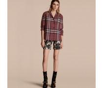 Bluse Aus Baumwolle Im Pyjamastil Mit Check-muster
