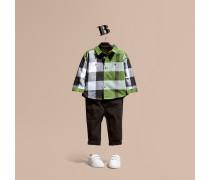 Baumwollhemd mit Check-Muster