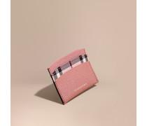 Kartenetui aus Leder mit Karofutter