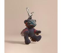 Teddybär aus Kaschmir mit Karomuster und  Beasts-Detail
