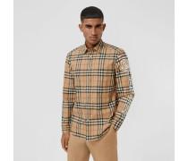 Hemd aus Baumwollpopelin im Vintage Check-Design