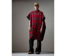Wendbarer Poncho aus Wolle und Kaschmir mit Schottenmuster