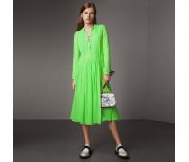 Kleid aus Seidengeorgette mit Raffungen