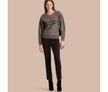 Hose aus Wolle und Seide mit gerader Beinpartie