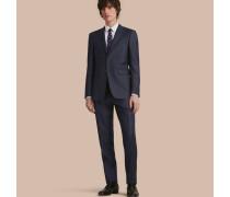 Modern geschnittener Part-Canvas-Anzug aus Wolle und Seide