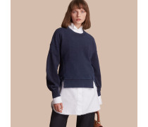 Sweatshirt aus einer Baumwolljersey-Mischung mit Puffärmeln
