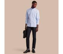 Baumwollhemd mit Button-down-Kragen und Vichy-Muster