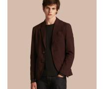 Jackett aus Baumwolle und Wolle mit aufgesetzten Taschen