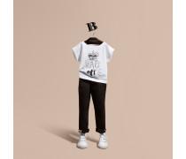 "Baumwoll-T-Shirt mit ""Hats Off""-Motiv"