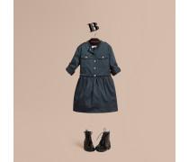 Hemdkleid Aus Stretchbaumwolle Im Military-stil