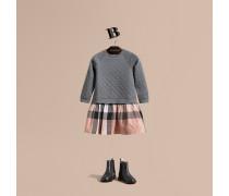 Kleid Aus Gestepptem Jersey Und Baumwolle In Check