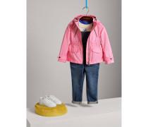 Packbare Jacke aus technischer Faser mit Kapuze